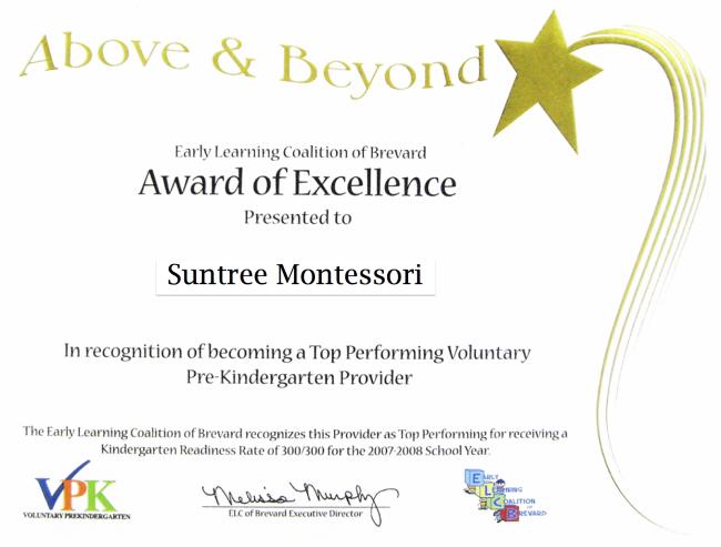 Suntree Montessori Receives Perfect Vpk Score Melbourne Vpk